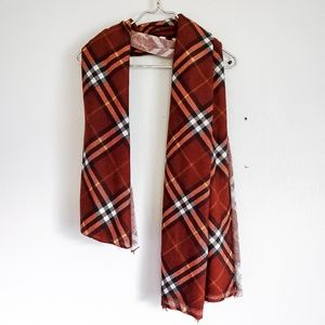 NWOT fall vibes plaid scarf one size